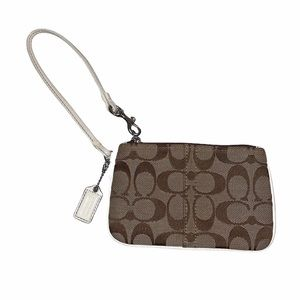 Coach Y2K Canvas/Leather Signature Logo Wristlet